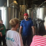 Our tour guide shared beer making techniques with us about the fermentation process to the canning and bottling.