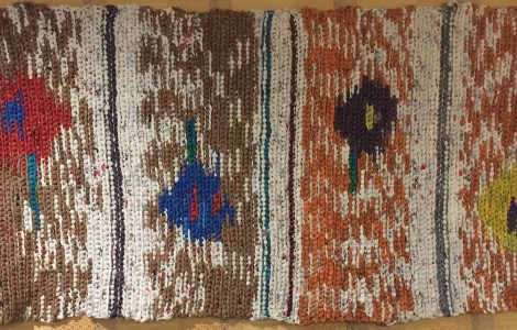 Crocheted Mats at The Fountains