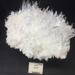 Quartz displayed at the Gem and Mineral Show.