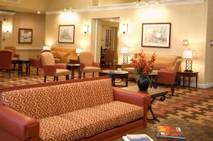 Our lobby offers plenty of nooks for reading a good book or the newspaper.