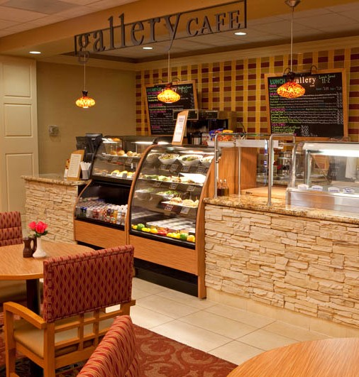 The Gallery Cafe offers gourmet salads and sandwiches