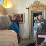 Our docent Stan sharing the rich history of the Mission.