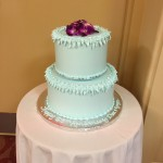 The delicious cake celebrating Don and Joyce's 65th wedding anniversary!