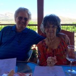 Dr. Bob and Cyndi enjoying their wine.