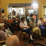 Residents singing along to a great song!