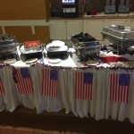 Buffet line all set and ready to go!