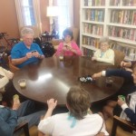 The group playing a round of UNO.