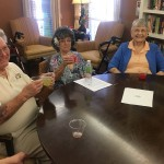 Residents enjoying happy hour!
