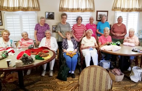 Fountains Knitters & Crocheters Honored