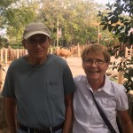 Bill & Irene in front of the camels.
