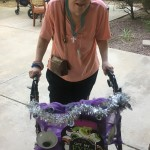 Betty's walker all spooked out for Halloween!