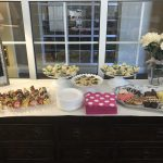 All the yummy treats that were served.