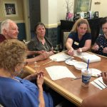 Gardens residents enjoying painting.