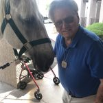 Former veterinarian for Thoroughbred horses, Dr. Bob and Wally.
