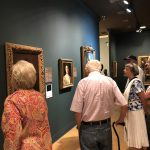 Residents viewing the expansive collection of Renaissance Art at the museum.