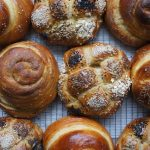 One of many traditions celebration the Jewish New Year 5779. Round Challah (egg bread) are baked with raisins and eaten with honey to sweeten the year the new year.