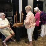 Joe sharing with residents how he crafts his flutes at the Watermark University class.