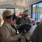 Cathie and Anna Bell were delighted to take in the wondrous sights from the upper deck.