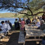 We all really worked up a healthy appetite on the lake and enjoyed our picnic lunch.
