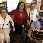 Betty, Jo, and Betty Jo showing off their decorated buggies!