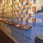 The wall inside the Holocaust center honoring local individuals who were touched by the holocaust.