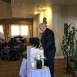 Father Modeen, who provides weekly mass in our community told a very moving story.
