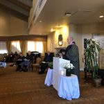 Resident Jim Remer provided a beautiful sermon and prayer at the service