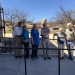 Herb, Liana, Linda, Don, Madeleine and John in front of the Amerind Foundation.