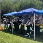 Our favorite musicians the talented Ocotillo Rain and Thunder Bluegrass Band entertained us!