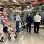 Checking out a helicopter