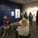 Visiting the Richard Avedon exhibit and megan sharing how the artist posed individuals for the shots.