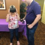 Resident Judy enjoying some Engage VR with Ricky!