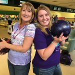 Marcey and Abby at the after hour bowling fundraiser