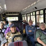 Happy times on the bus en route to Mt. Lemmon.