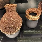 A Mongollon- Pueblo woven vessel, one of many that are in the collection at the museum.